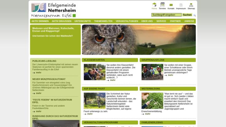 Screenshot Naturzentrum-Eifel.de