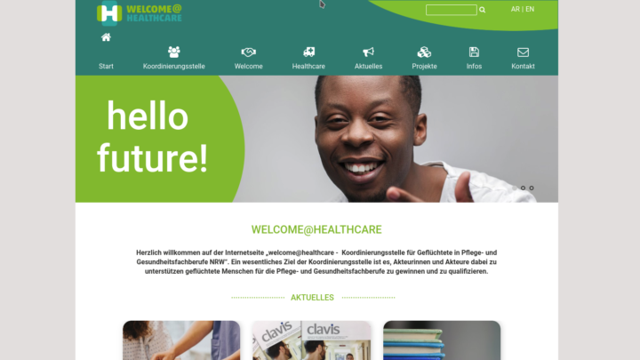 Screenshot healthcare-nrw.de