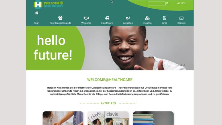 Screenshot healthcare-nrw.de