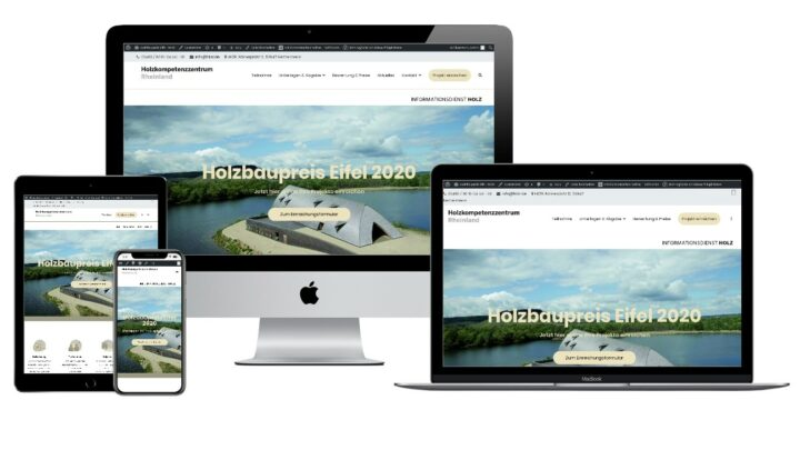 Website Holzbaupreis Eifel