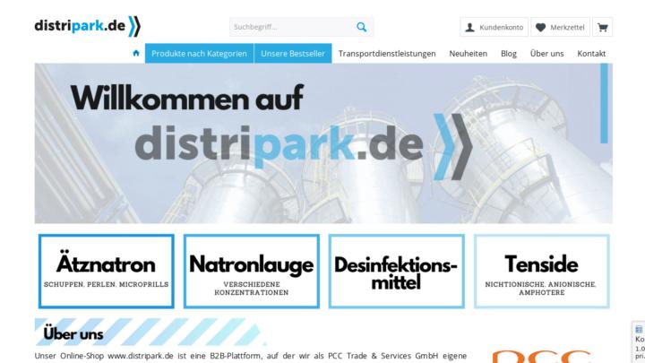 Dcreenshot distripark.de