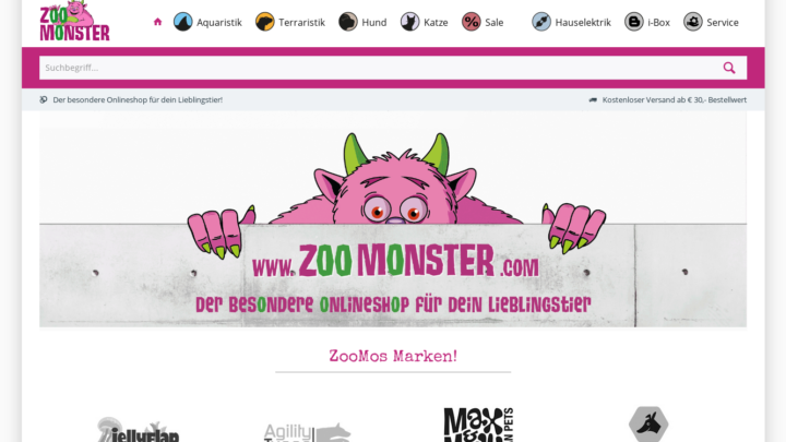 Screenshot ZooMonster.com